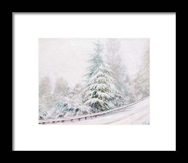 Winter Landscape Framed Print featuring the painting Winter Of 04 by Jim Gola