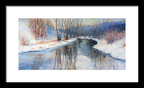 Winter Framed Print featuring the painting Winter Reflection by Ruth Mabee