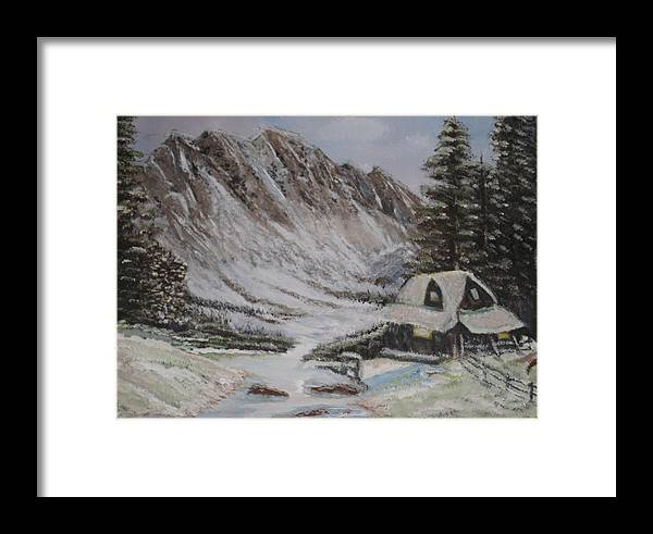 Winter Framed Print featuring the painting Winter Retreat by Allison Prior