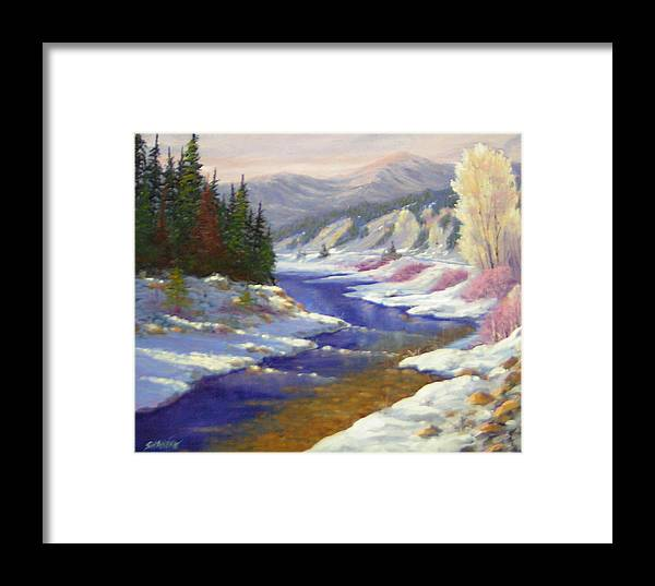 Landscape Framed Print featuring the painting Winter Revisited 070712-97 by Kenneth Shanika