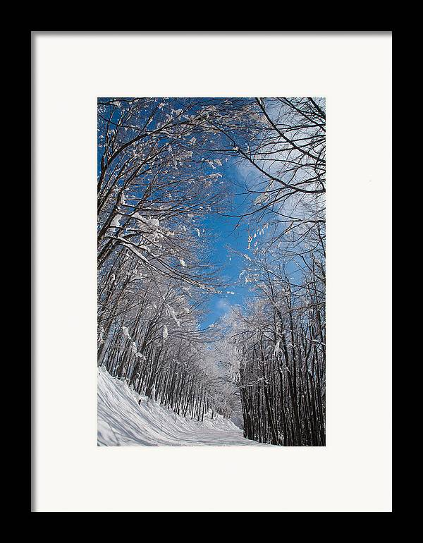 Mountain Framed Print featuring the photograph Winter Road by Evgeni Dinev