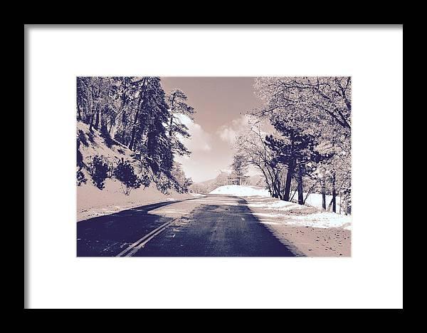 Landscape Framed Print featuring the photograph Winter Roads by Joe Burns
