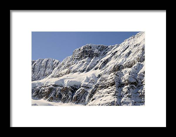 Snow Framed Print featuring the photograph Winter Rockies by Tiffany Vest