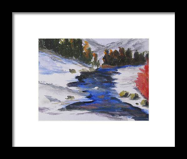 Snow Framed Print featuring the painting Winter Shades by Trilby Cole