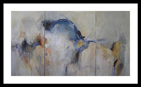 Painting Framed Print featuring the painting Winter Solstice by Barbara Couse Wilson