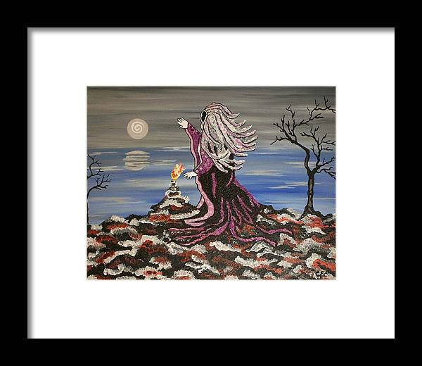Winter Framed Print featuring the painting Winter Solstice by Carolyn Cable