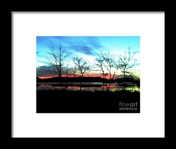 Framed Print featuring the digital art Winter Solstice by Dawn Johansen