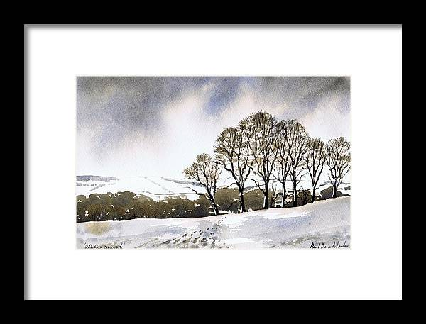 Winter Framed Print featuring the painting Winter Sowood by Paul Dene Marlor