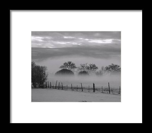 Landscape Framed Print featuring the photograph Winter Stillness by Yolanda Lange