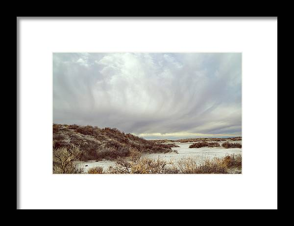 Landscapes Framed Print featuring the photograph Winter Storm Clouds 2018-2289 by Karen W Meyer