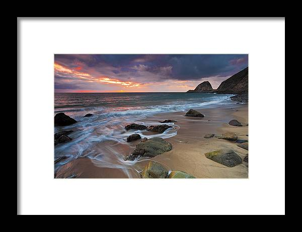 Beaches Framed Print featuring the photograph Winter Storm's Approach by Greg Clure
