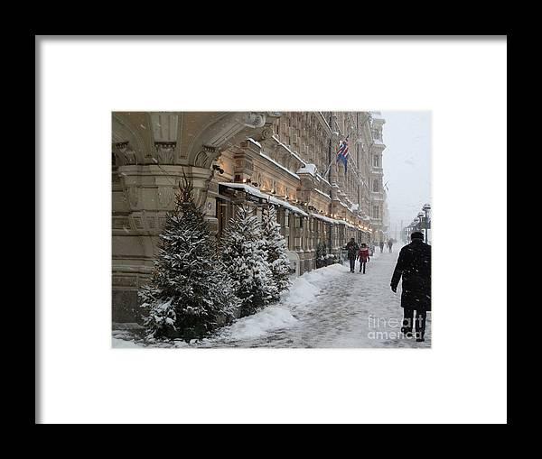 Helsinki Framed Print featuring the photograph Winter Stroll In Helsinki by Margaret Brooks