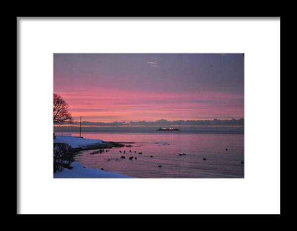 Sea Scape Framed Print featuring the photograph Winter Sunrise by Joseph Cusano IV