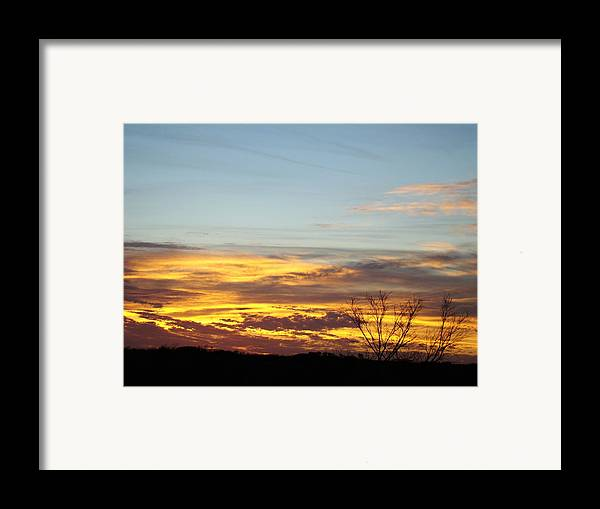 Scenic Framed Print featuring the photograph Winter Sunrise One by Ana Villaronga