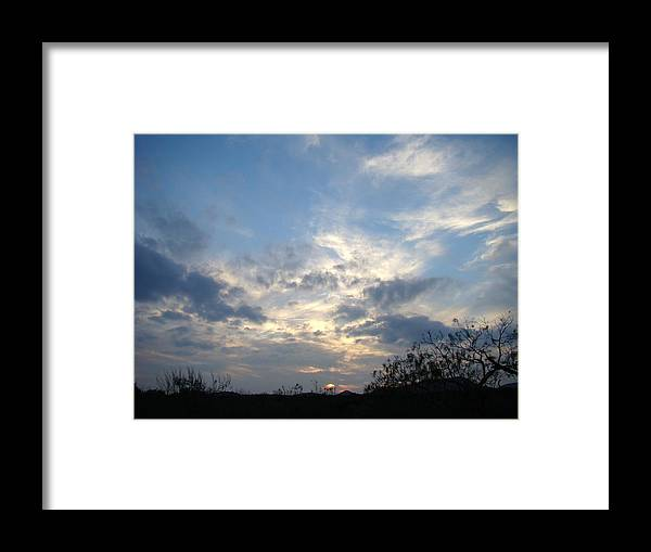 Winter Framed Print featuring the photograph Winter Sunset One by Ana Villaronga