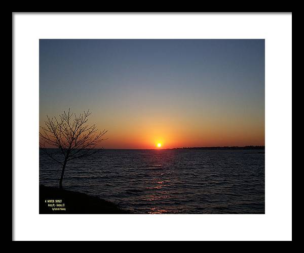 Sunset Framed Print featuring the photograph Winter Sunset by Patrick J Maloney