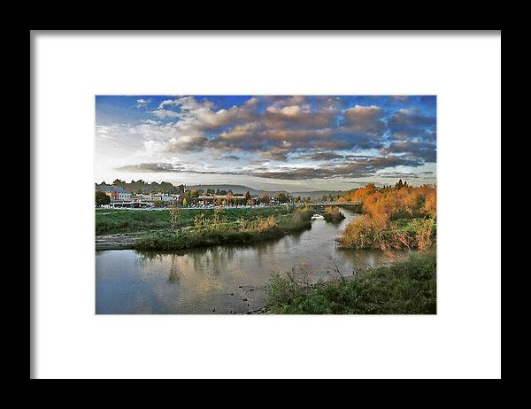 California Landscape Art Framed Print featuring the painting Winter Sunset Santa Cruz by Larry Darnell