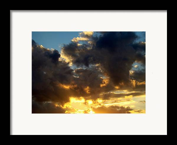 Clouds Framed Print featuring the photograph Winter Sunset Three by Ana Villaronga