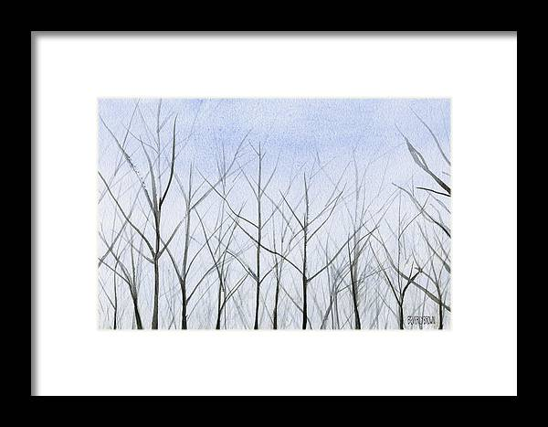 Winter Trees Framed Print by Beverly Brown Prints