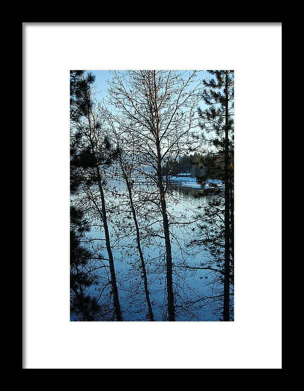 Photography Framed Print featuring the photograph Winter Water Blues by Heather S Huston