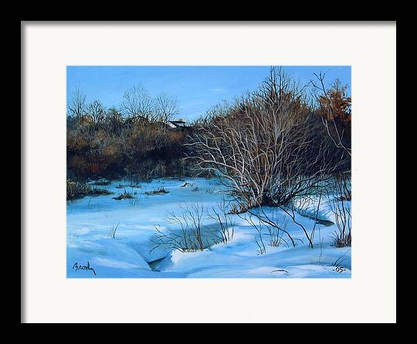 Landscape Framed Print featuring the painting Winter by William Brody