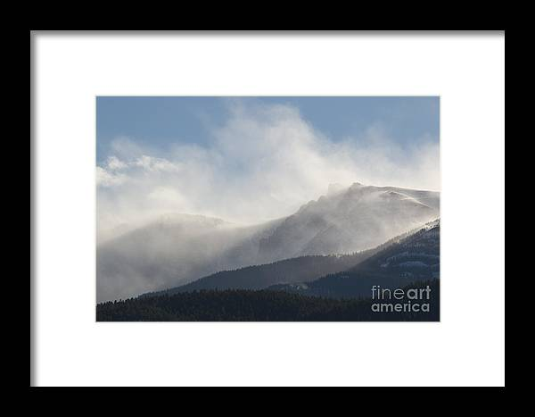 Pikes Peak Framed Print featuring the photograph Winter Wind On Pikes Peak Colorado by Steve Krull