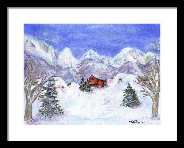 Winter Framed Print featuring the painting Winter Wonderland - Www.jennifer-d-art.com by Jennifer Skalecke