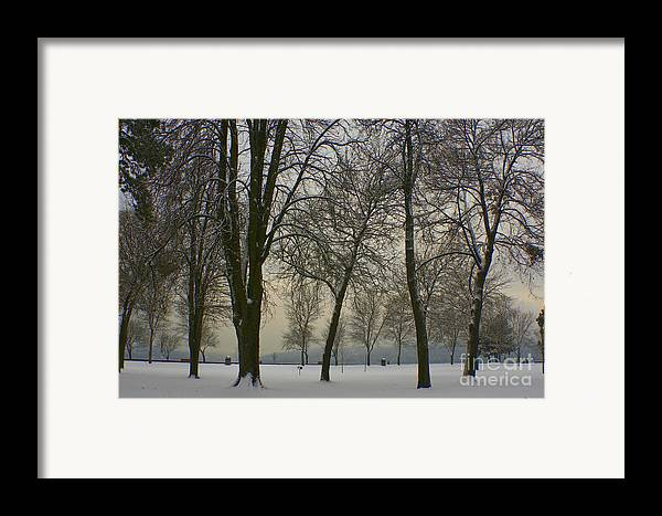 Park Framed Print featuring the photograph Winter Wonderland by Idaho Scenic Images Linda Lantzy
