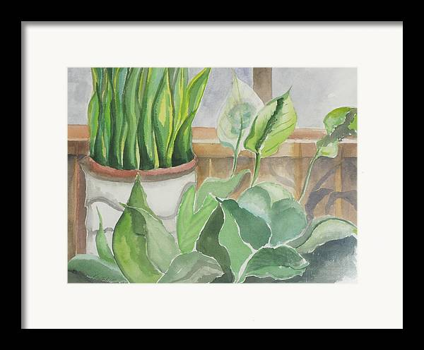 Still Life Framed Print featuring the painting Wintergarten by Kathy Mitchell