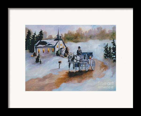 Winter Framed Print featuring the painting Winters Dream by Brenda Thour