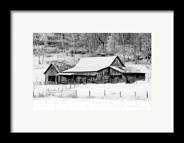 Barn Framed Print featuring the photograph Winter's White Shroud by Tom Mc Nemar