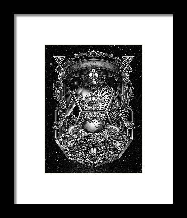 Three Wise Monkeys Framed Print featuring the digital art Winya No. 104 by Winya Sangsorn