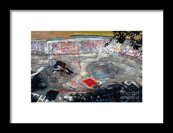 Falling Framed Print featuring the photograph Wipe-out by David Lee Thompson