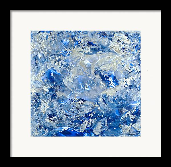 Abstract Painting Framed Print featuring the painting Wipe Out II by Danita Cole