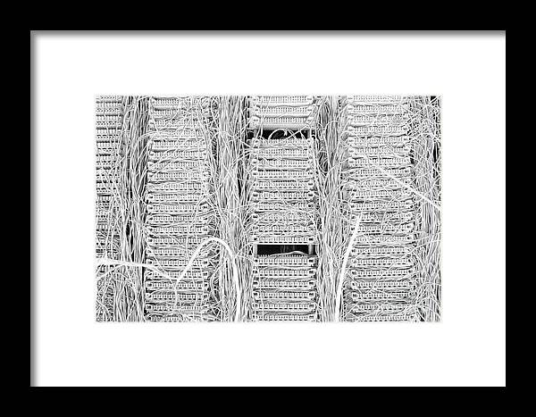 Telecom Framed Print featuring the photograph Wired by Dean Harte