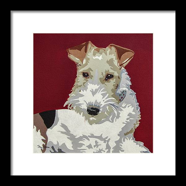 Wire Fox Terrier Framed Print featuring the painting Wirehaired Fox Terrier by Slade Roberts