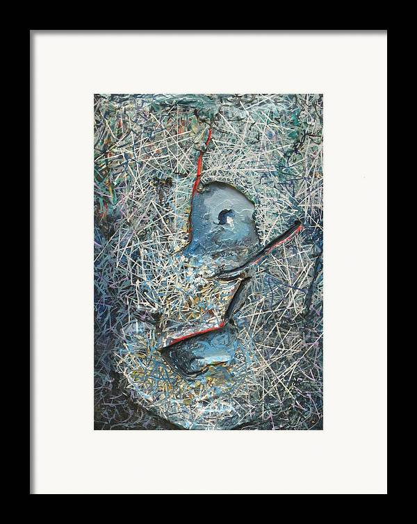 Mixed Media Framed Print featuring the painting Wisdom by David McKee
