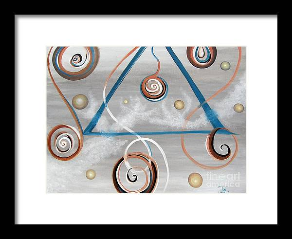 Abstract Painting Framed Print featuring the painting Wisdom by Toni Thorne