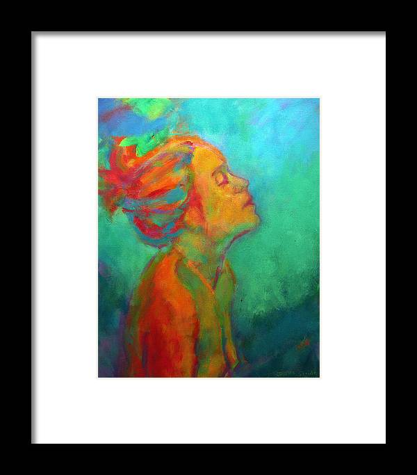 Portrait Framed Print featuring the painting Wish by Jessica Stride