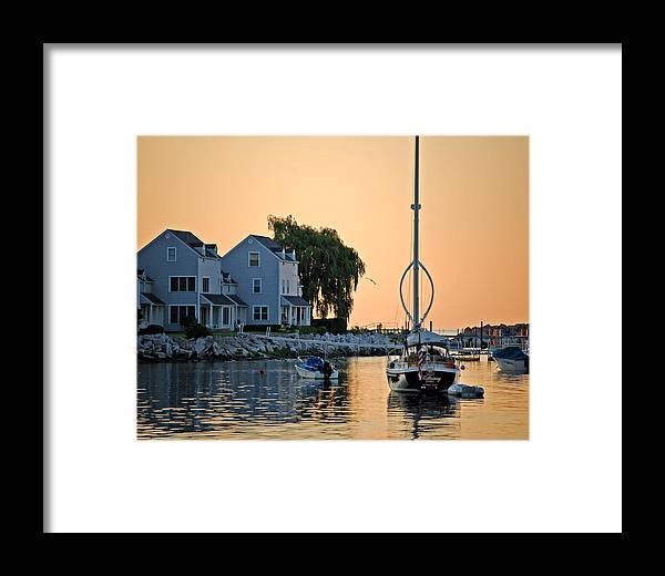 Pelican Framed Print featuring the photograph Wishbone Yacht by Michael Thomas