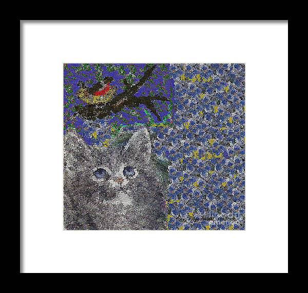 Abstract Framed Print featuring the painting Wishful Thinking by Robyn Louisell