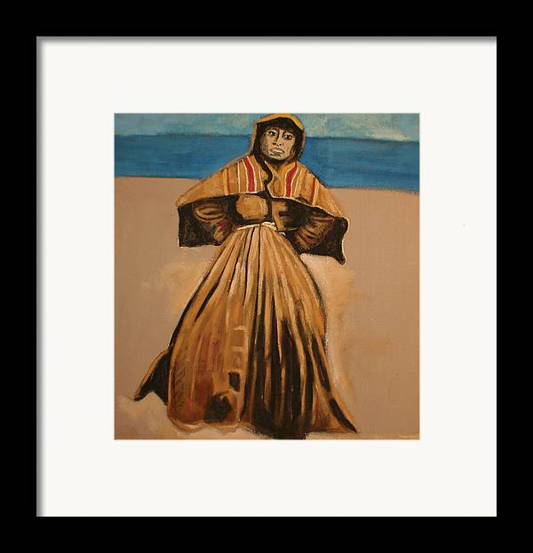 Framed Print featuring the painting Witch By The Sea by Biagio Civale