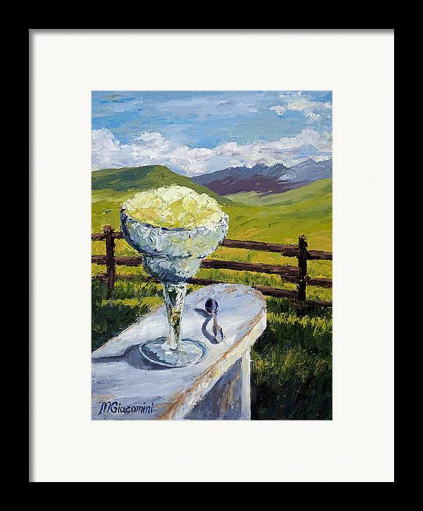 Oil Framed Print featuring the painting With Salt by Mary Giacomini