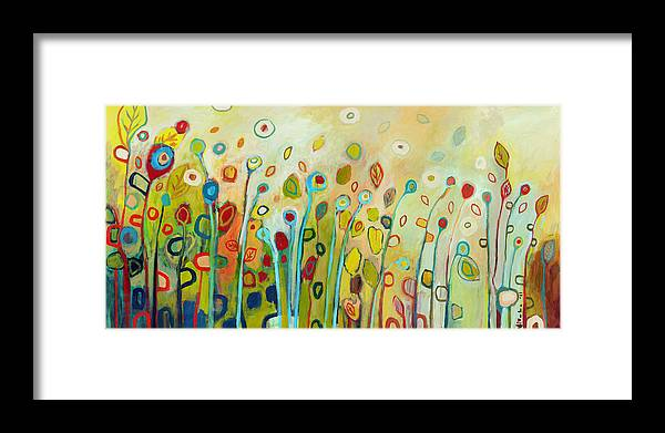 Floral Framed Print featuring the painting Within by Jennifer Lommers