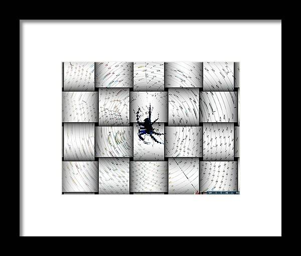 Spider Framed Print featuring the photograph Within by Jonathan Ellis Keys