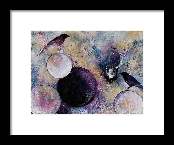 Raven Framed Print featuring the painting Within The Distant Aidenn by Sandy Applegate