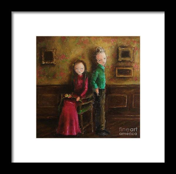 Framed Print featuring the painting Without Words by Mya Fitzpatrick