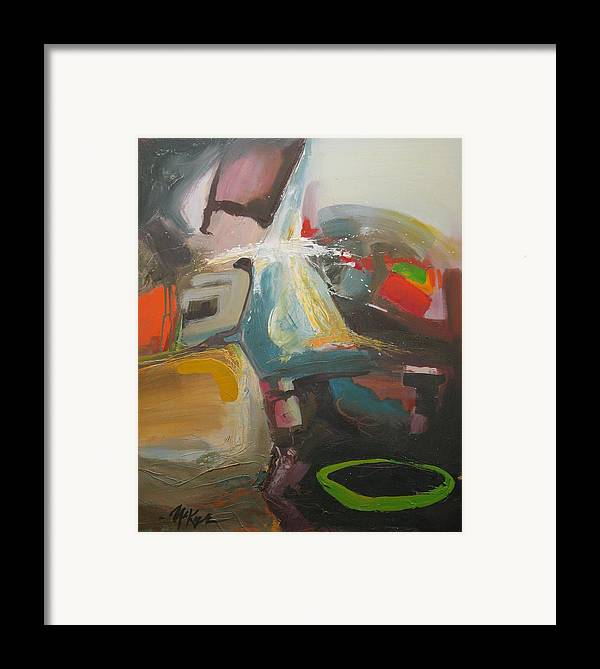 Abstract Framed Print featuring the painting Wizard by David McKee