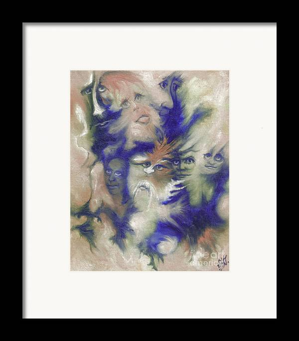Mystical Framed Print featuring the painting Wizard's Dream by Stephanie H Johnson