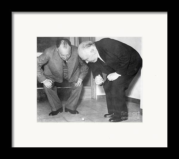 1900s Framed Print featuring the photograph Wolfgang Pauli And Niels Bohr by Margrethe Bohr Collection and AIP and Photo Researchers